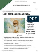 Los 7 Estados de Conciencia - Alejandra Plaza