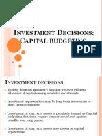 3. Capital Budgeting