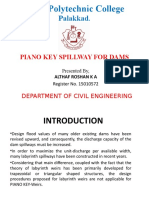 Piano Key Spillway for Dams