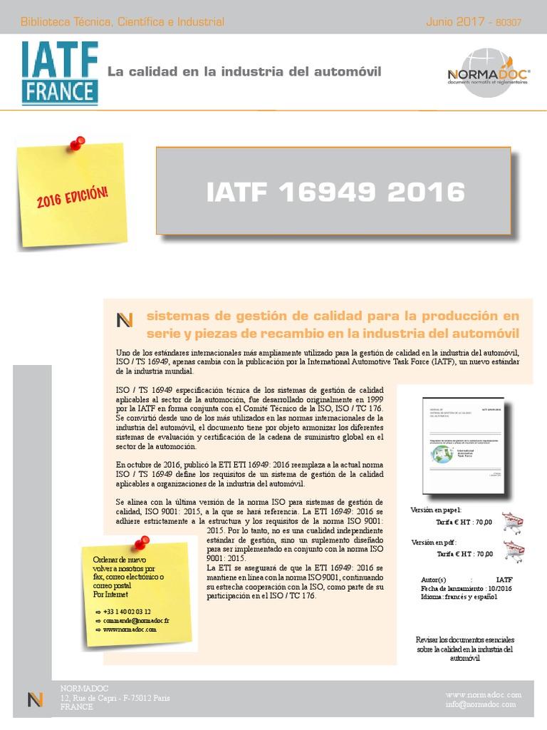 descargar norma iatf 16949 pdf gratis