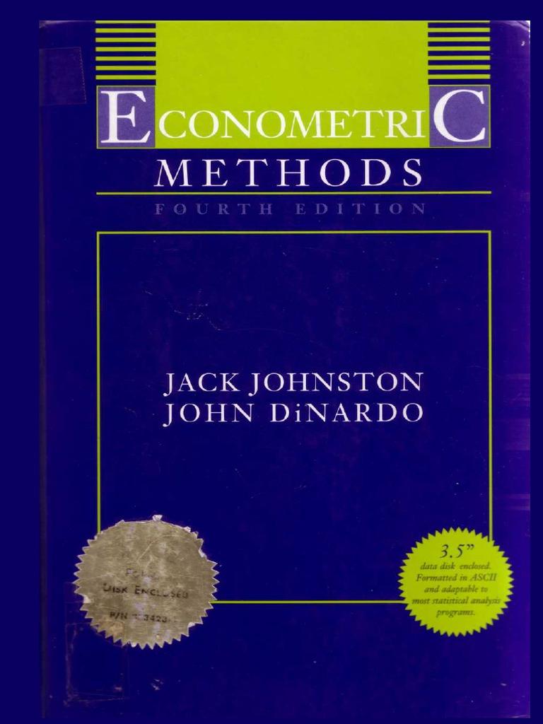 econometric methods 4th ed j johnston j dinardo 1997 ww pdf rh scribd com