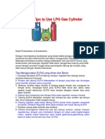 Use LPG Gas Cylinder