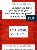 NATURE OF ACAD TEXTS