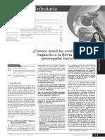 Exoneraciones Impuesto Renta 3ra Categoria
