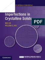 Imperfections in Crystalline Solids - Wei Cai