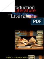 Approaches and Lit Intro