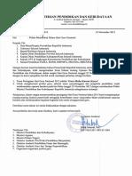 03. Surat Pengantar Dan Sambutan Mendikbud Pada Peringatan HGN 2015