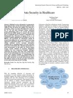 Big Data Security in Healthcare 1