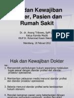 Dr Azhari Hak Kewajiban Dokter Pasien RS