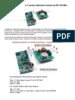 Controle Remoto Utilizando Modulo de RF 433 Mhz