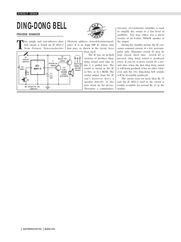 DING-DONG BELL.pdf | Electrical Components | Manufactured Goods