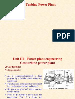 Power Plant-Gas Turbine Based PPT | Gas Turbine | Gas Compressor