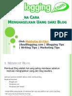 372. Bagaimana Menghasilkan Uang Dari Blog