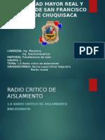 1.6 Radio Critico de Aislamiento