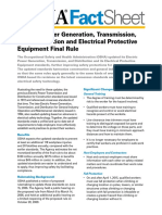 Electric Power Generation, Transmission, and Distribution and Electrical Protective Equipment Final Rule