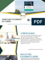 Comparez 3 Soumissions d'assurance vie à Québec