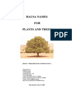 Hausa Names for Plants and Trees