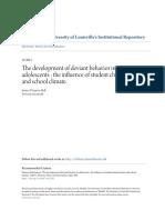 dezvoltarea comportamentelor deviante la adolescenti