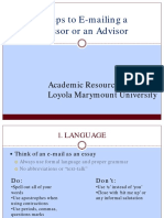 How to Email a Professor PDF