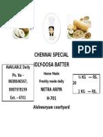 Chennai Special