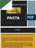 Pengolahan Makanan Kontinental - Pasta