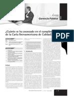 Carta Iberoamericana Calidad