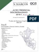 Simulacro San Marcos 2018 i Presencial Descentralizado Unmsm Admisión Universidad