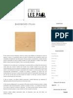 Basswood (Tilia)