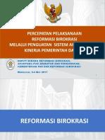 Penguatan Sakip Prov Sulawesi Selatan 2017