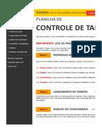 Planilha de Controle de Tarefas 3.0 - DeMO