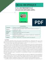 TIMV11 Escala de Preferencias Personales de Edwards EPPS