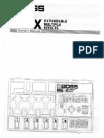 Boss ME-X Manual