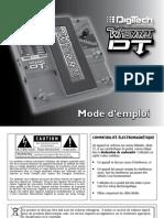 Whammy DT Manual-French Original