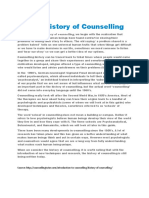 A Brief History of Counselling