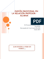 Dimensión Emocional en La Relación Profesor-Alumna