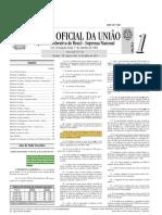 Alterações do Código Minerário - DOU