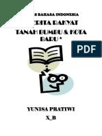 Bahasa Indonesia(Asal Usul Pulau Laut)