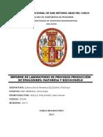 Informe de Laboratorio de Elaboracion de Mayonesa