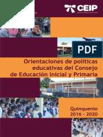 Políticas Educativas 2016 2020