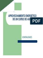 APROVECHAMIENTO ENERGÉTICO DE UN CURSO DE AGUA
