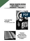 Seminario Taller Lectio Divina