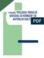 presentacion de PRESAS TIPOLOGIA