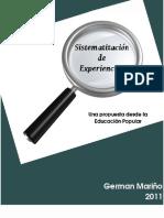 Sistematizacion de Experiencias Aportes Desde La Educacion Popular German Mario 2011 Agosto22
