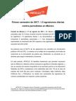 Informe Artículo 19  agresiones a la prensa en México - Primer Semestre 2017