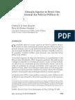 Equidade na Educação Superior no Brasil- Uma Análise Multinomial das Políticas Públicas de Acesso