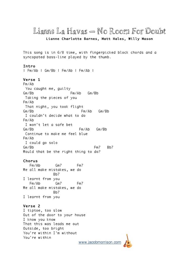 Lianne La Havas No Room For Doubt PDF