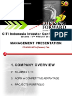 Citi Indonesia Investor Conference 2010 - Management Presentation
