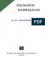 Weischedel W - Los Filosofos Entre Bambalinas.pdf