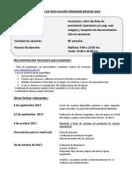 1.- Proceso Postulación 1º Basico 2018