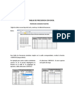 Instructivo Tablas de Frecuencia Con Excel